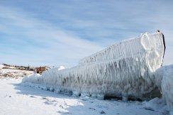 Bateau pris dans le gel...