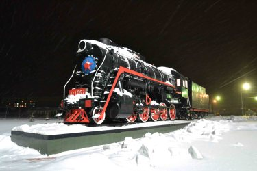 locomotive en pleine nuit