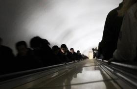 descente dans le metro