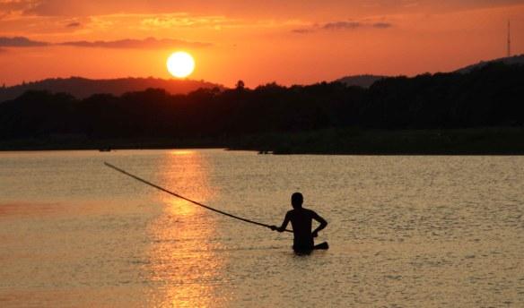 Pêcheur à Mandalay