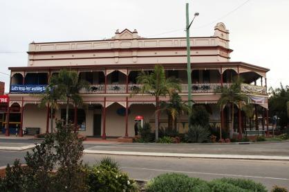 Un immeuble du centre de Grafton