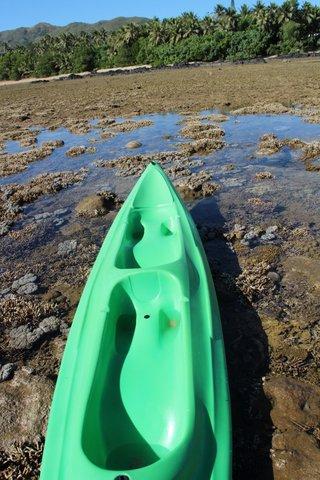 Le kayak à l'arrivée...