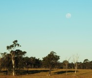 Lever de lune dans le Queensland