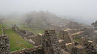 Notre visite du Machu Picchu a été très brumeuse...