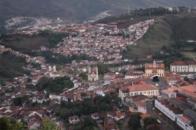 Ouro Preto à la tombée du jour